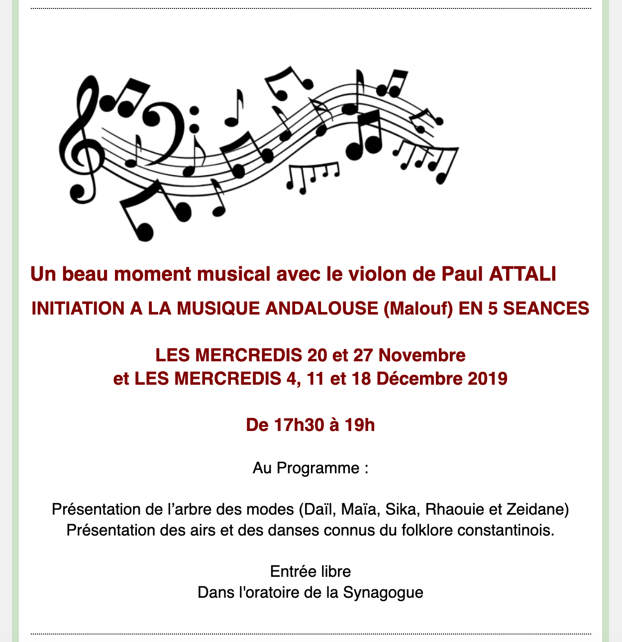 concert paul attali nov 19